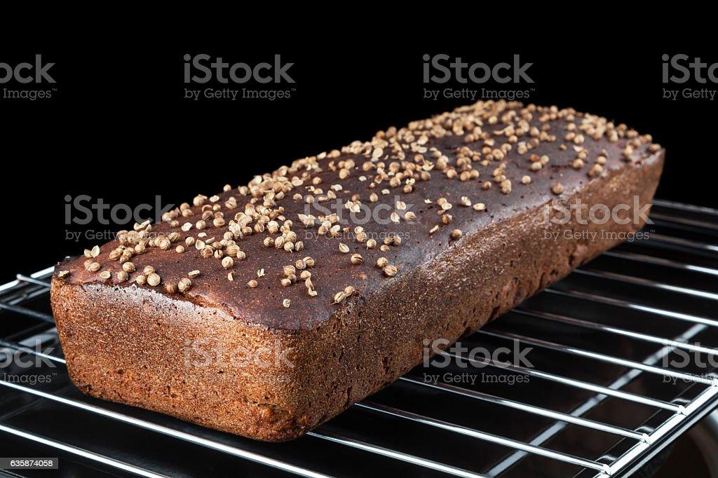 Homemade Borodinsky Bread stock photo