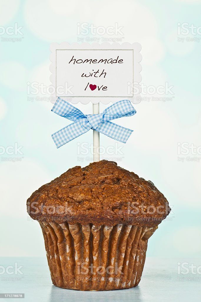Homemade Bran Raisin Muffin stock photo