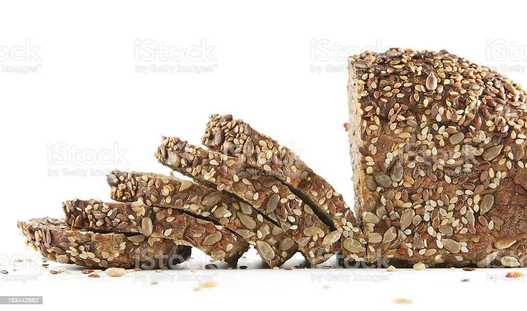 Homemade bread isolated on white stock photo