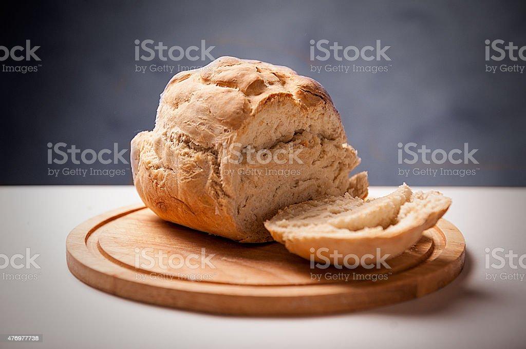 Homemade bread isolated stock photo