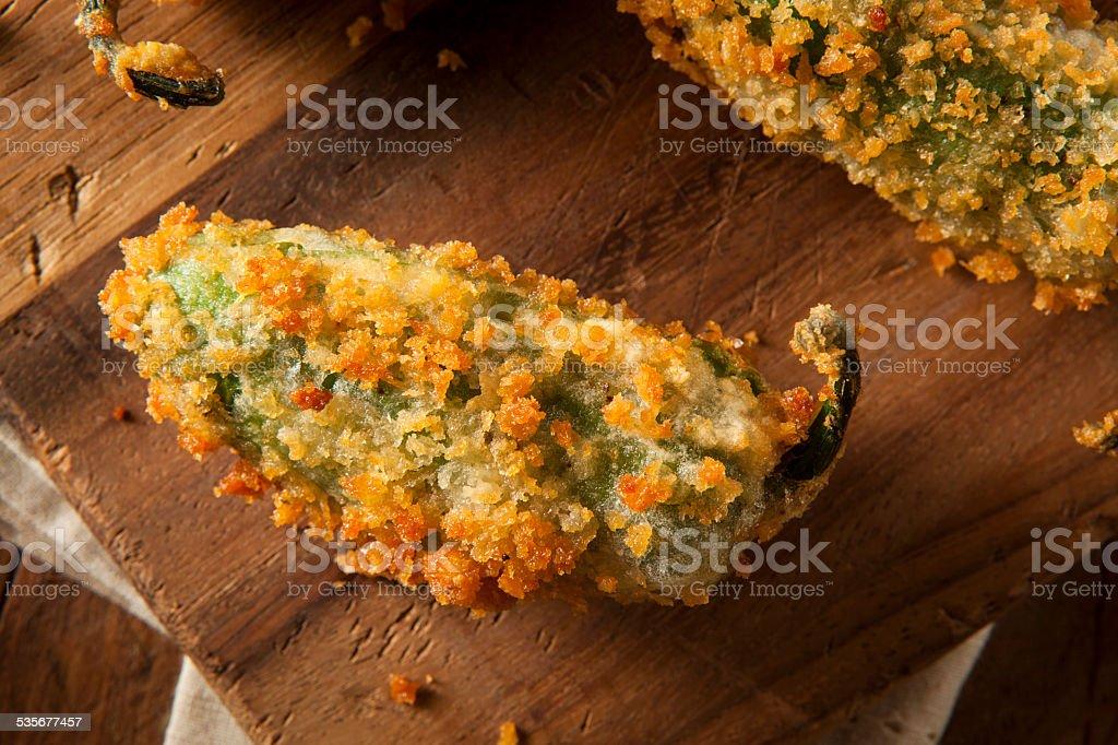Homemade Breaded Jalapeno Poppers stock photo