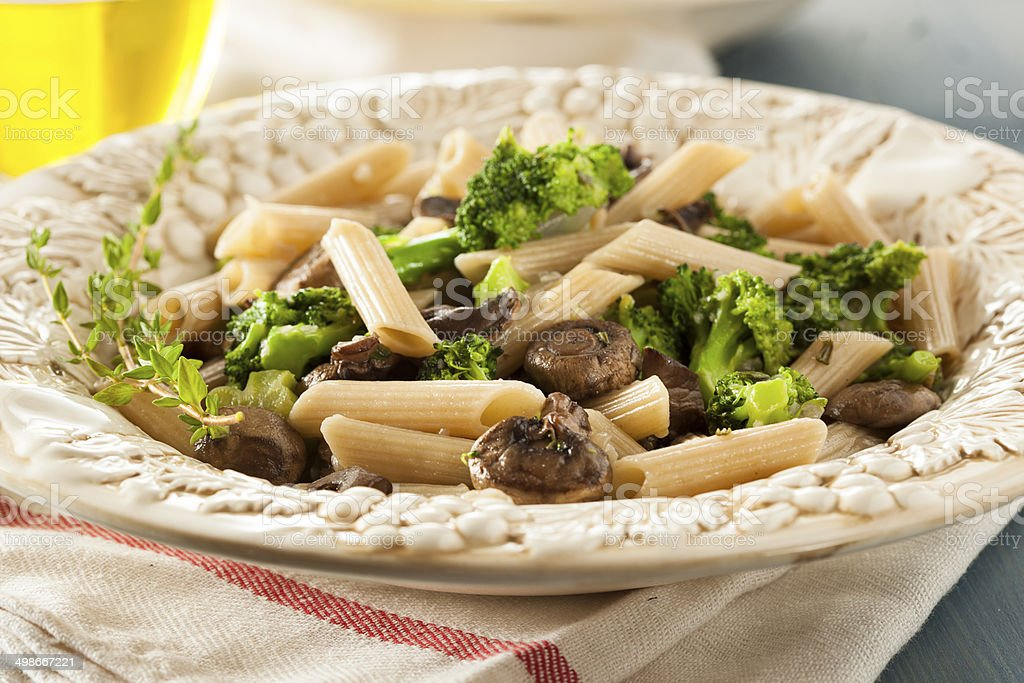 Homemade Broccoli and Parmesan Pasta stock photo