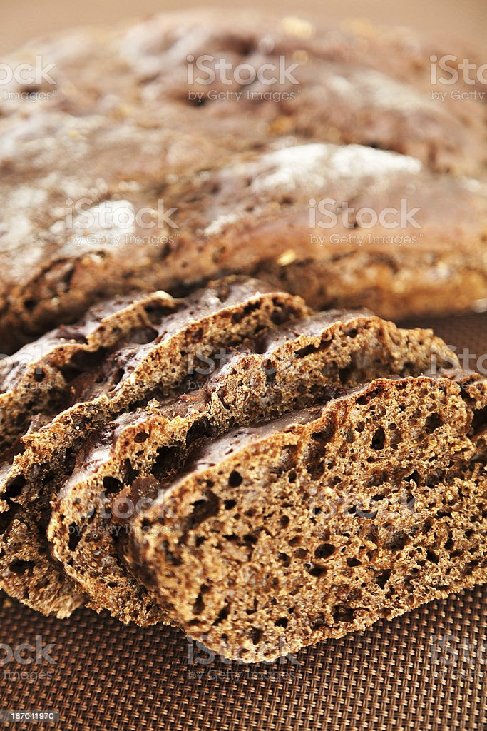 Homemade brown bread royalty-free stock photo