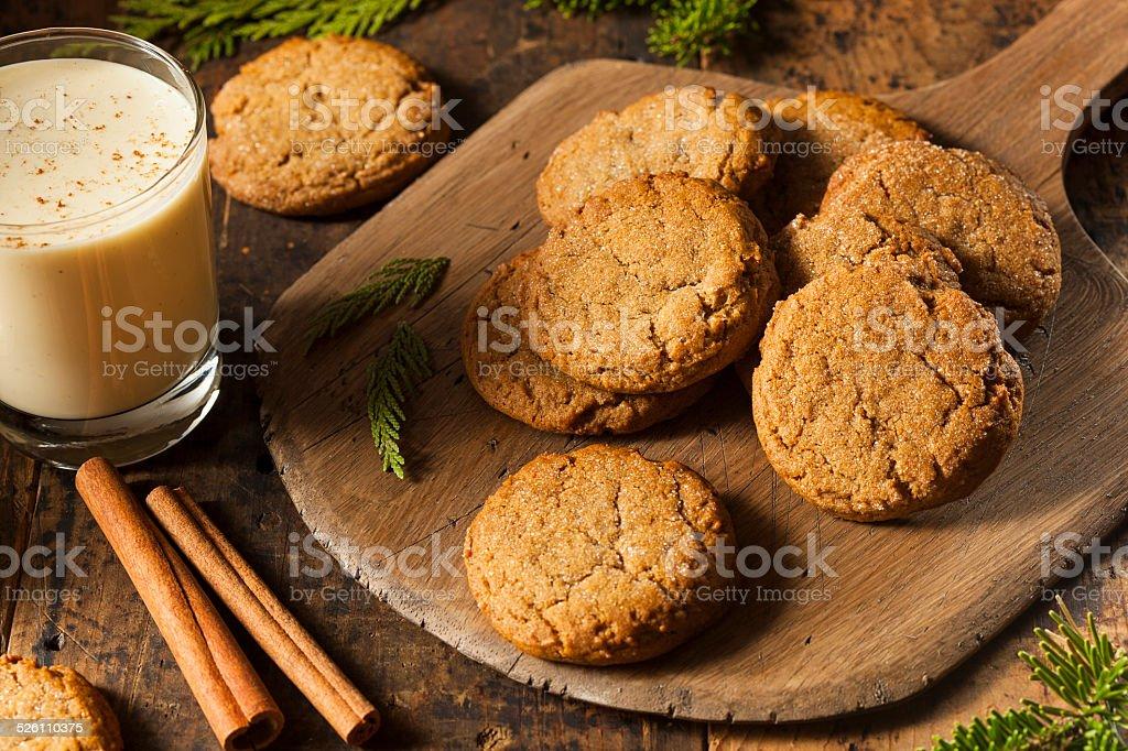 Homemade Brown Gingersnap Cookies stock photo