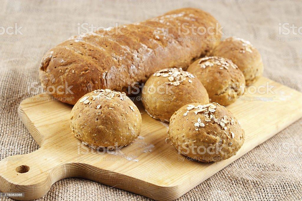 Homemade buns royalty-free stock photo