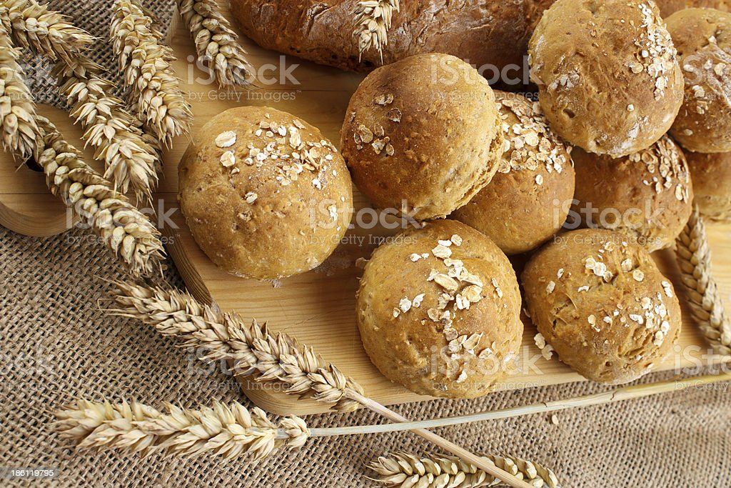 Homemade buns royalty-free stock photo