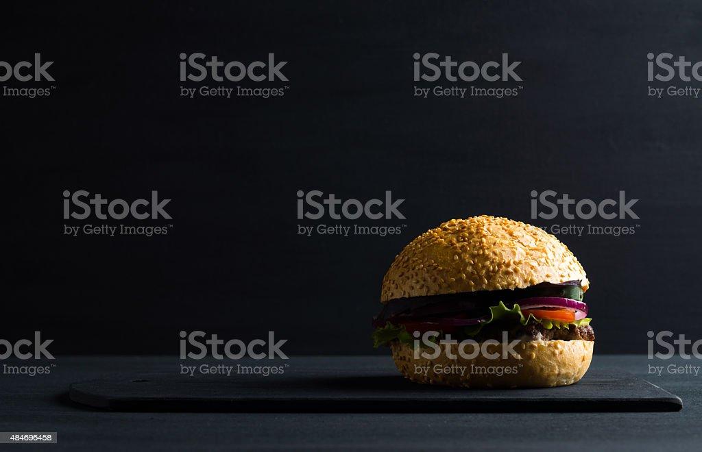 Homemade burger stock photo
