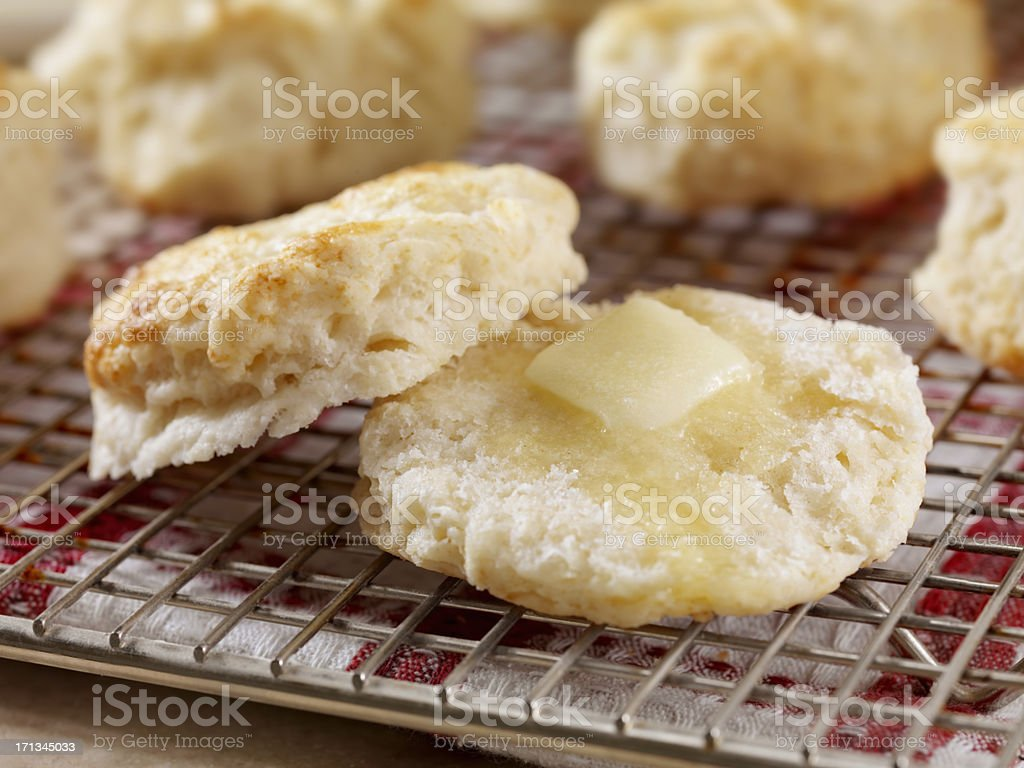 Homemade Buttermilk Biscuits stock photo