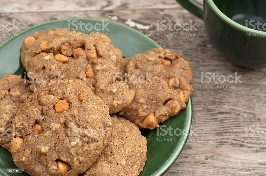 Homemade butterscotch cookies stock photo
