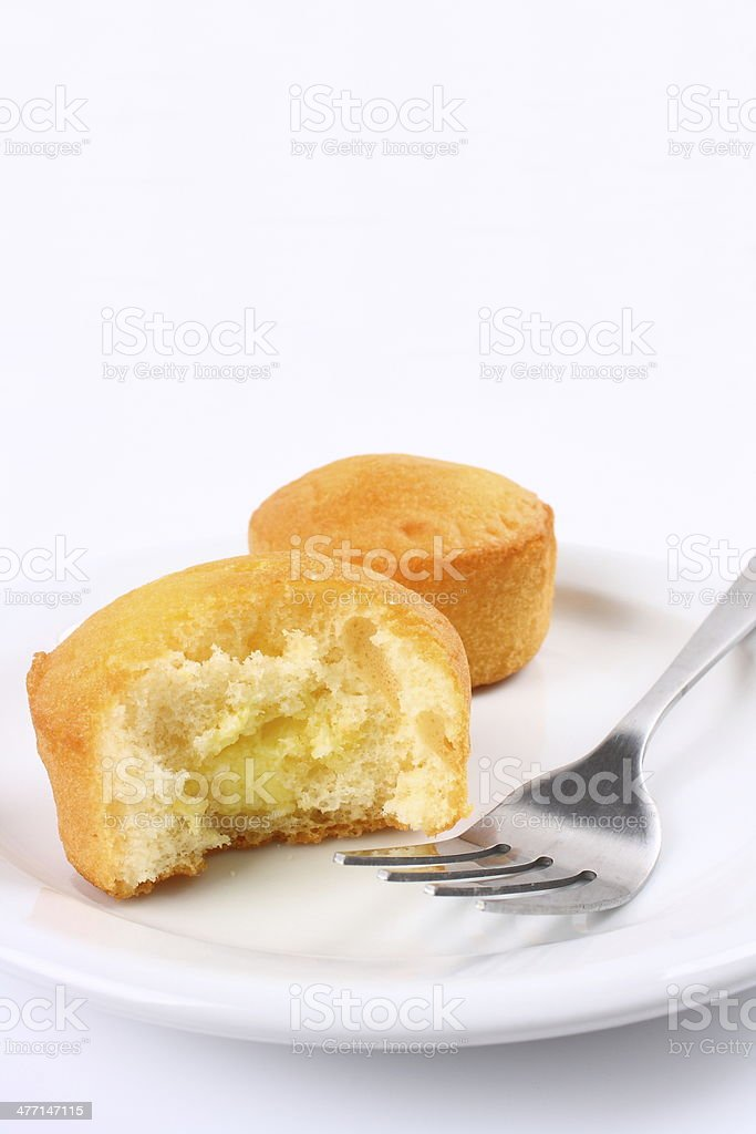 Homemade cake on a plate royalty-free stock photo