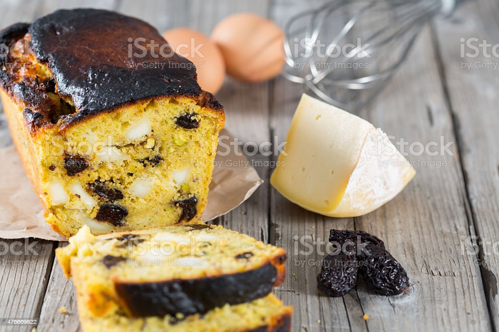 Homemade cake stock photo