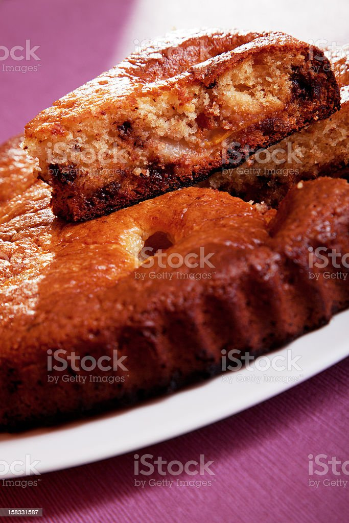 Homemade cake with fruits royalty-free stock photo
