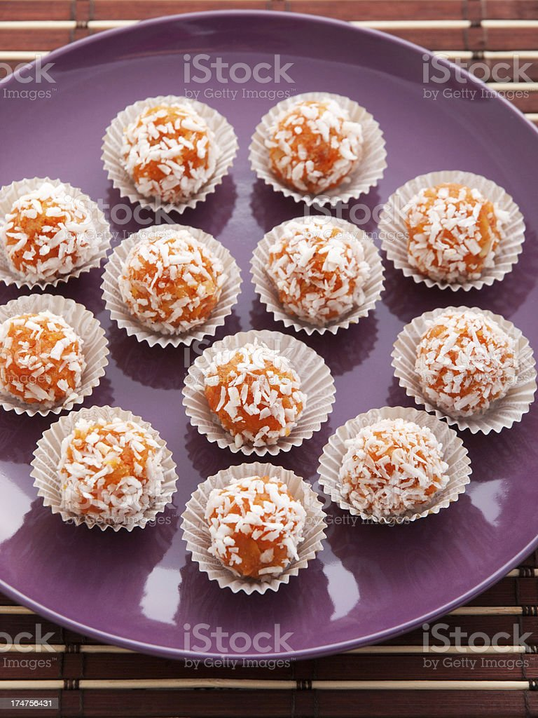 Homemade carrot candies royalty-free stock photo