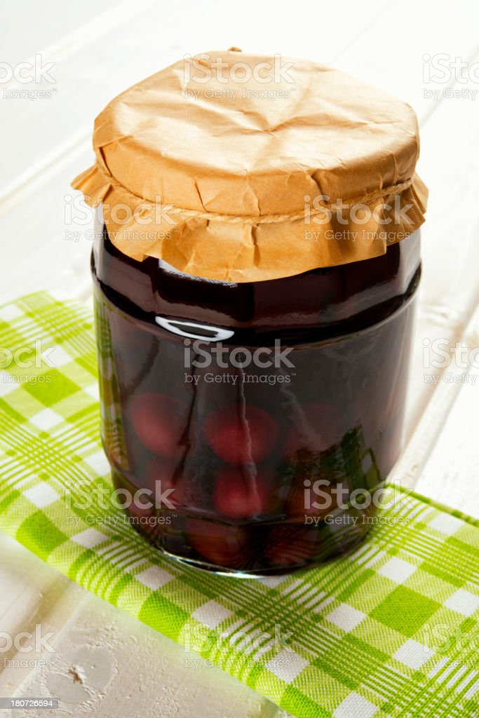 Homemade cherry compote royalty-free stock photo