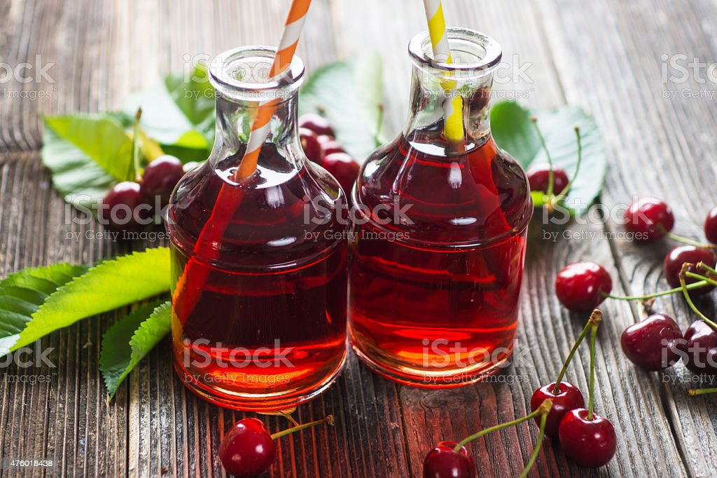 Homemade Cherry Juice stock photo