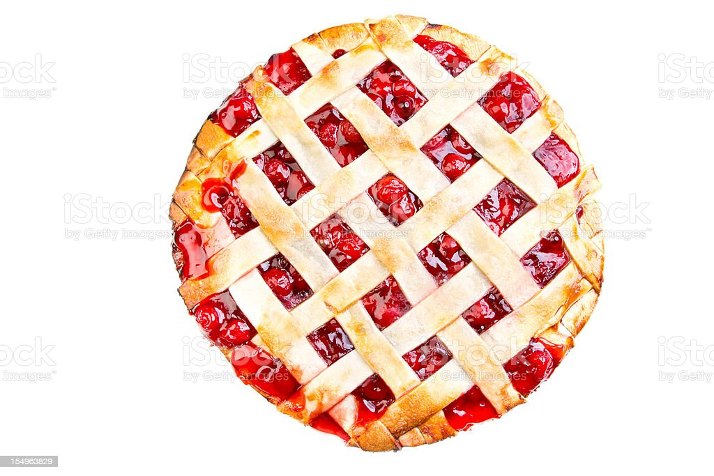 Homemade Cherry Pie Lattice Crust stock photo