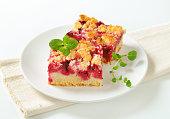 Homemade cherry sponge cake