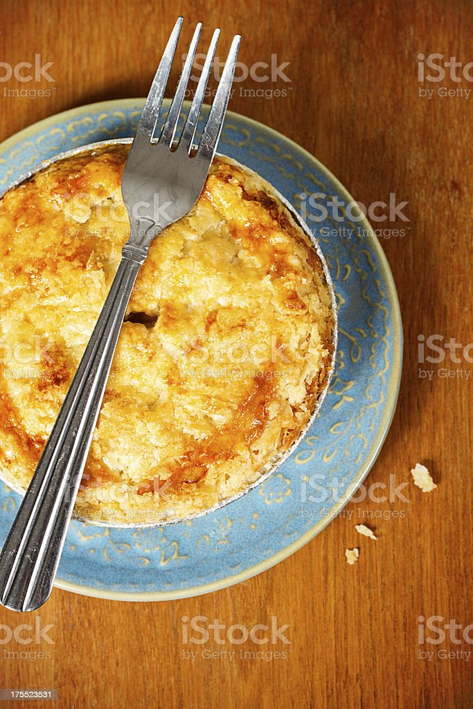 Homemade Chicken Pot Pie On Table stock photo