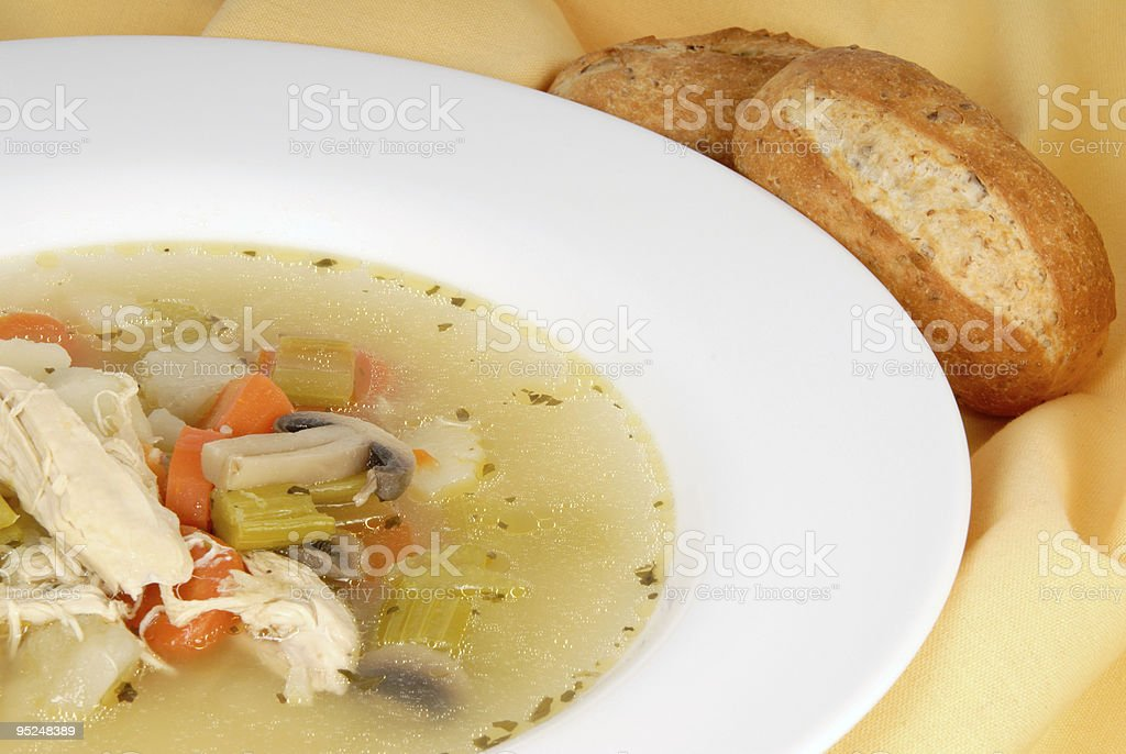 Homemade Chicken Soup royalty-free stock photo