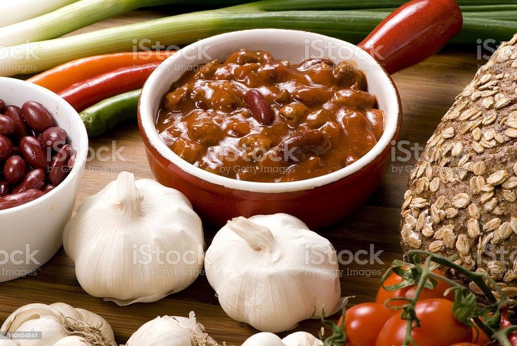 Homemade Chili 6 stock photo