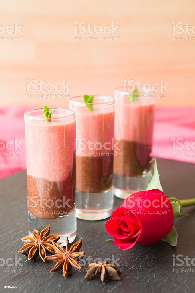 Homemade chocolate and strawberries royalty-free stock photo