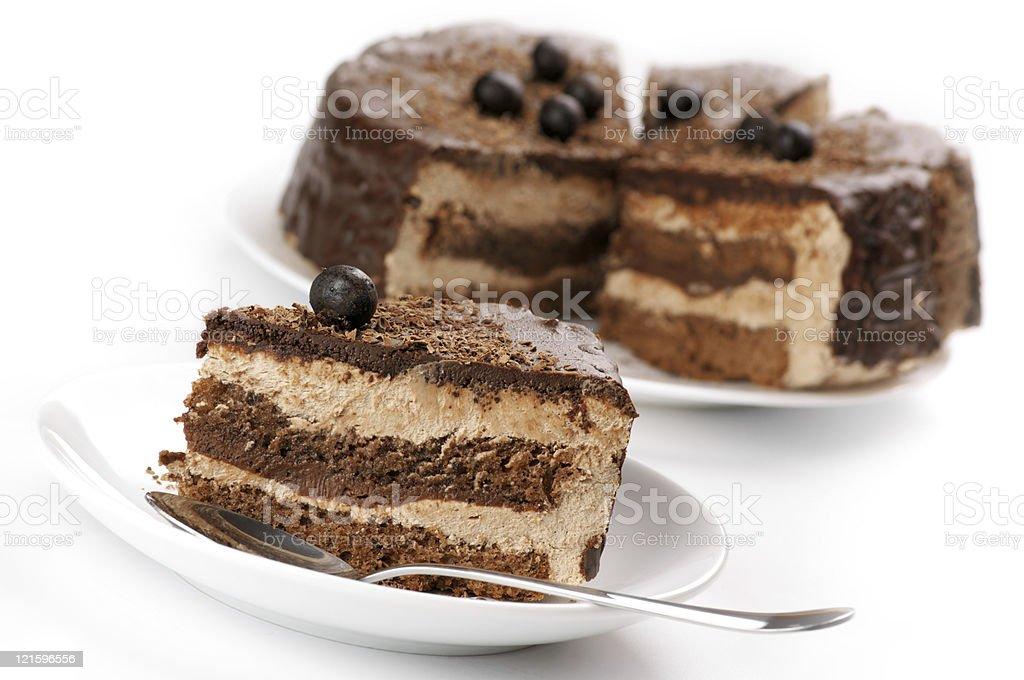 Homemade chocolate cake royalty-free stock photo