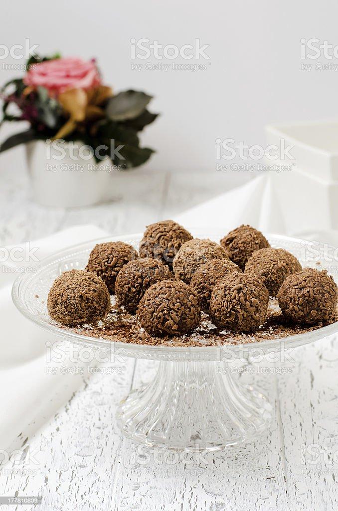 Homemade chocolate candies royalty-free stock photo