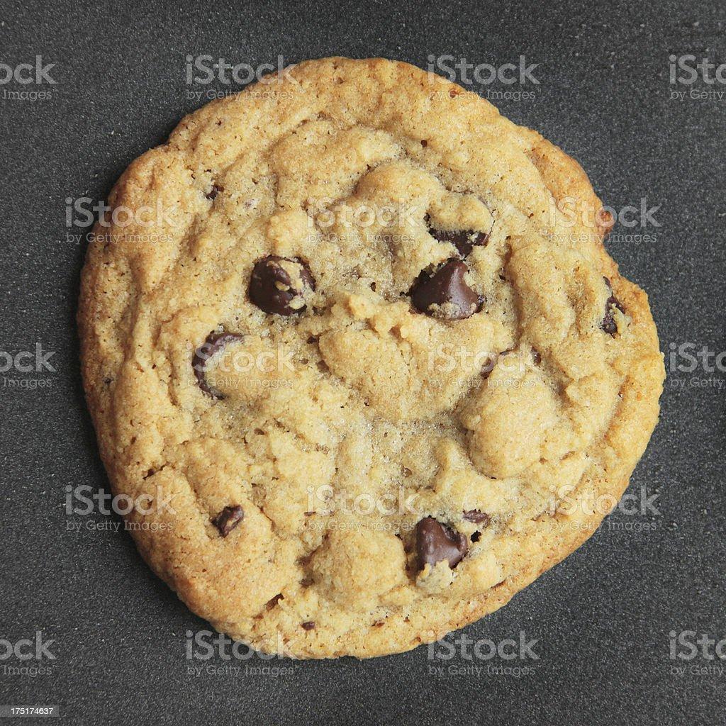 Homemade Chocolate Chip Cookie Closeup royalty-free stock photo