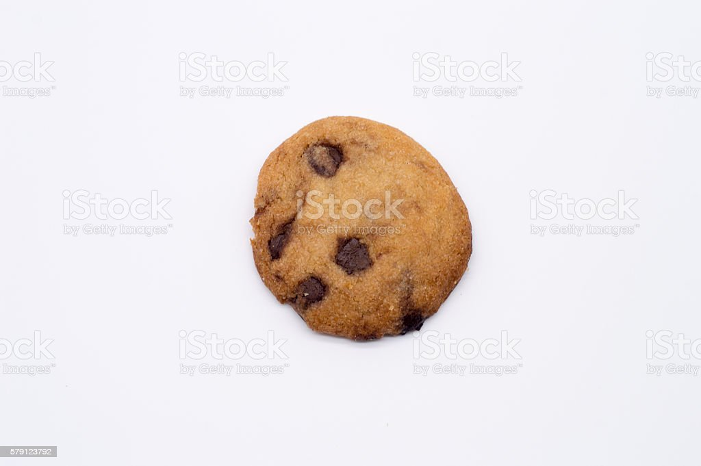 homemade chocolate chip cookie stock photo