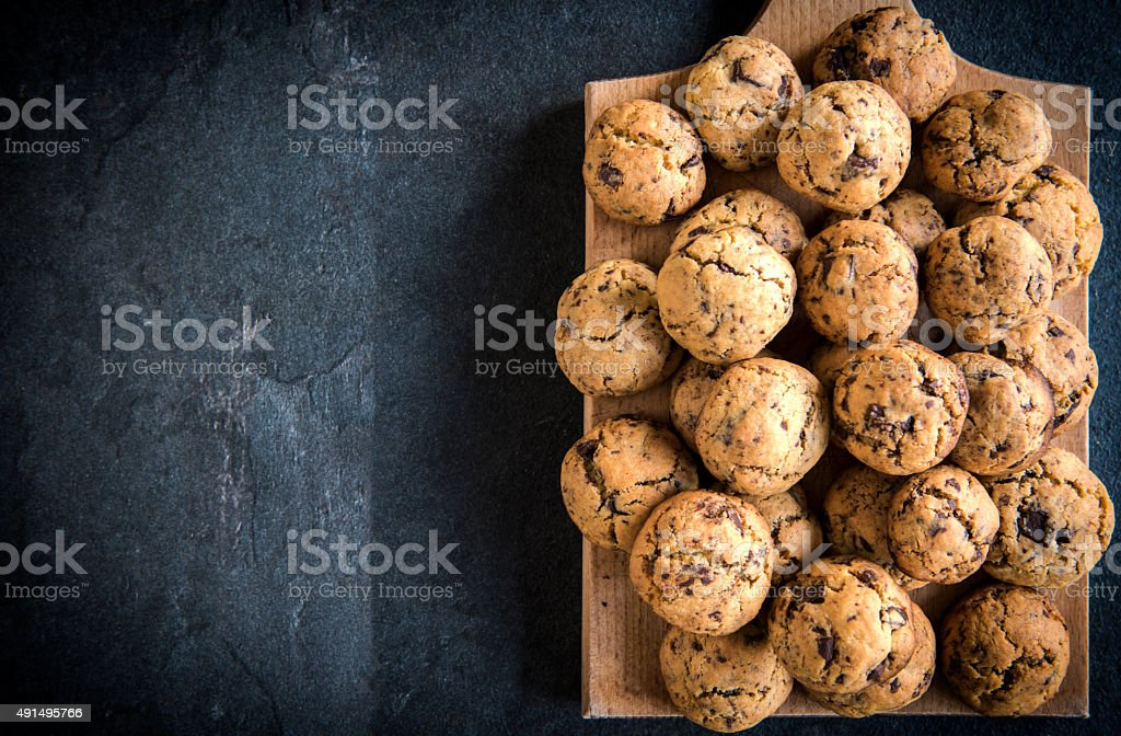 Homemade chocolate cookies stock photo