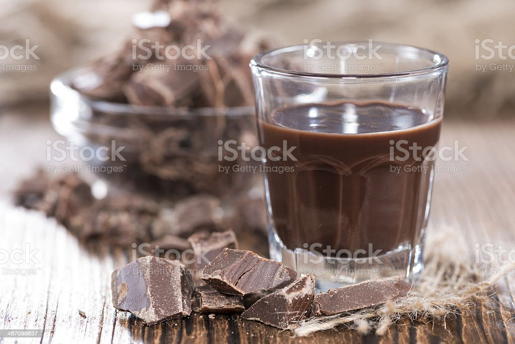 Homemade Chocolate Liqueur stock photo