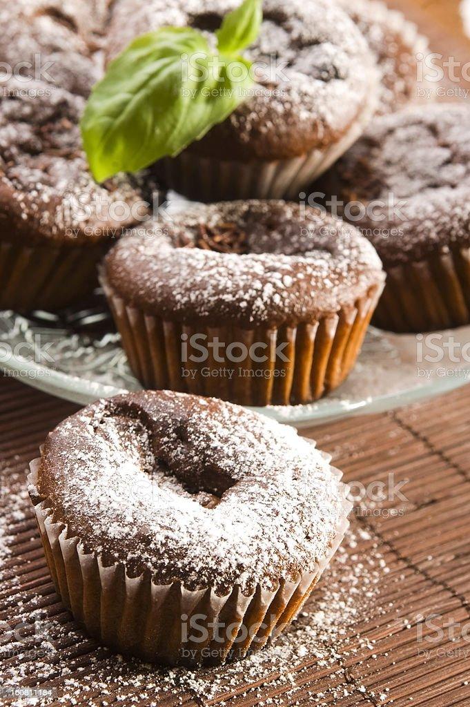 Homemade chocolate muffins royalty-free stock photo
