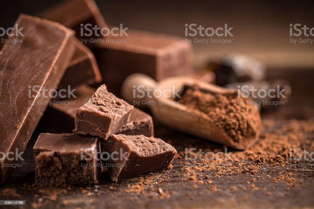 Homemade chocolate stock photo