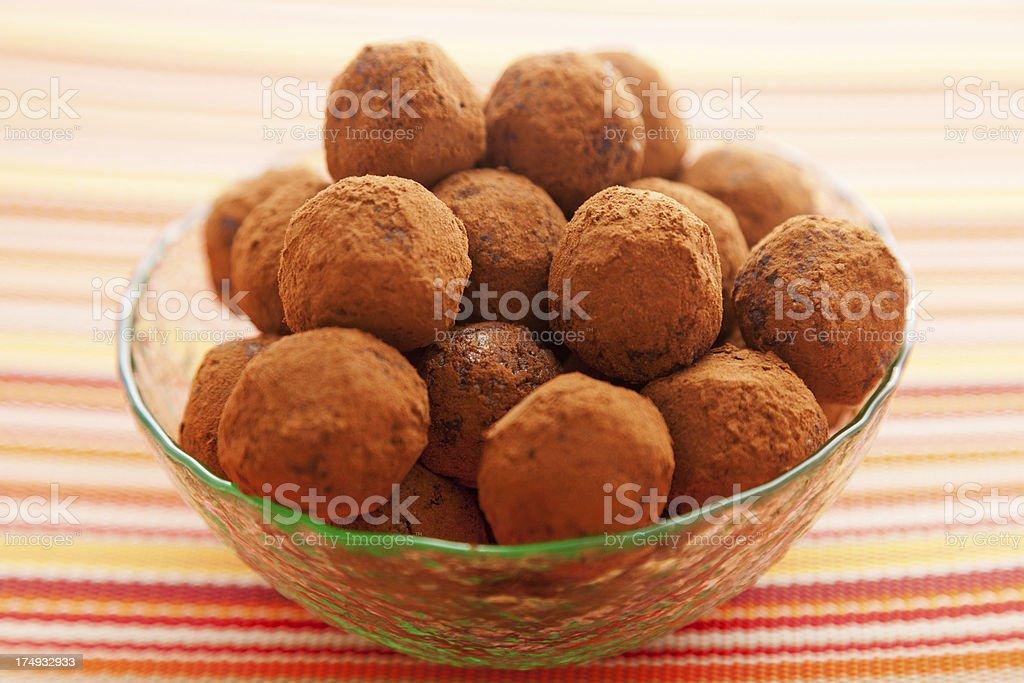 Homemade chocolate truffles royalty-free stock photo