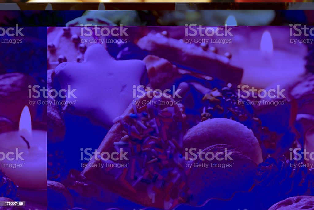 homemade christmas cookies and nuts royalty-free stock photo
