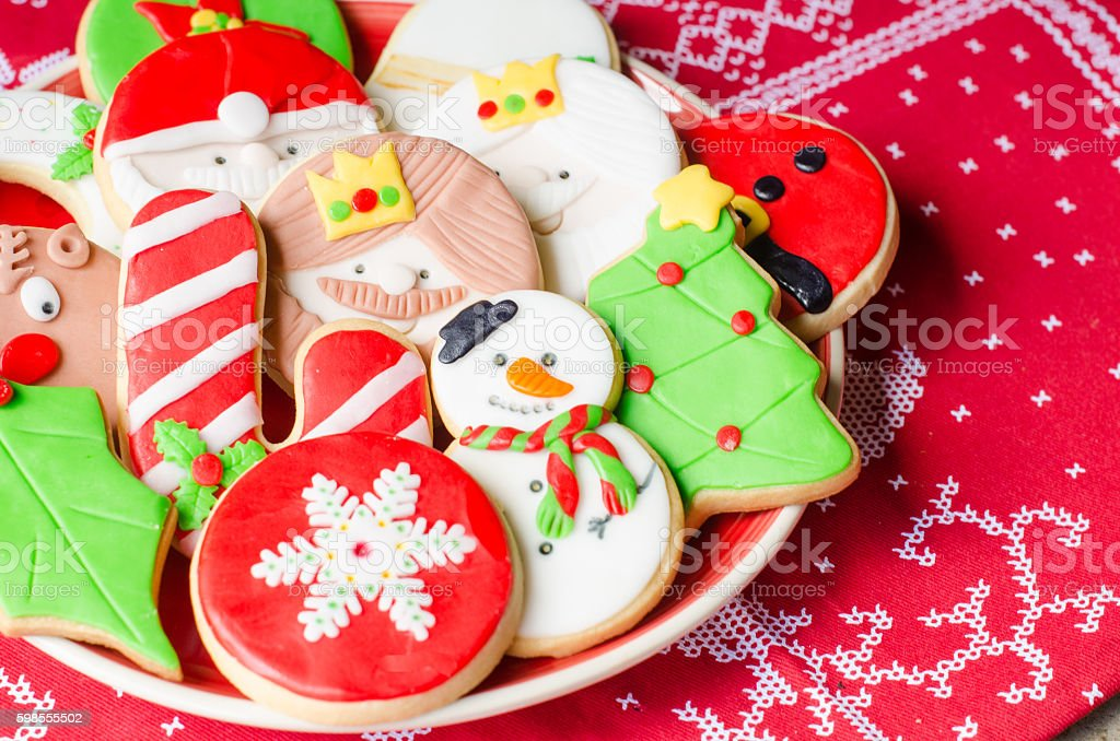 Homemade Christmas cookies. stock photo