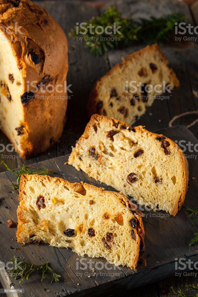 Homemade Christmas Even Panettone Bread stock photo