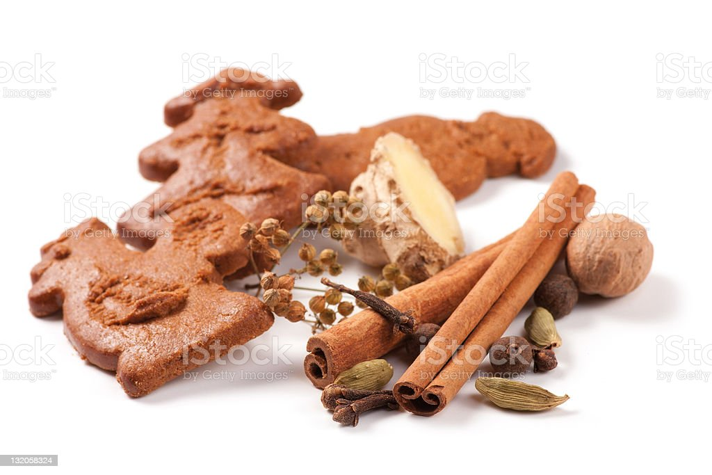 Homemade Christmas gingerbread spices royalty-free stock photo
