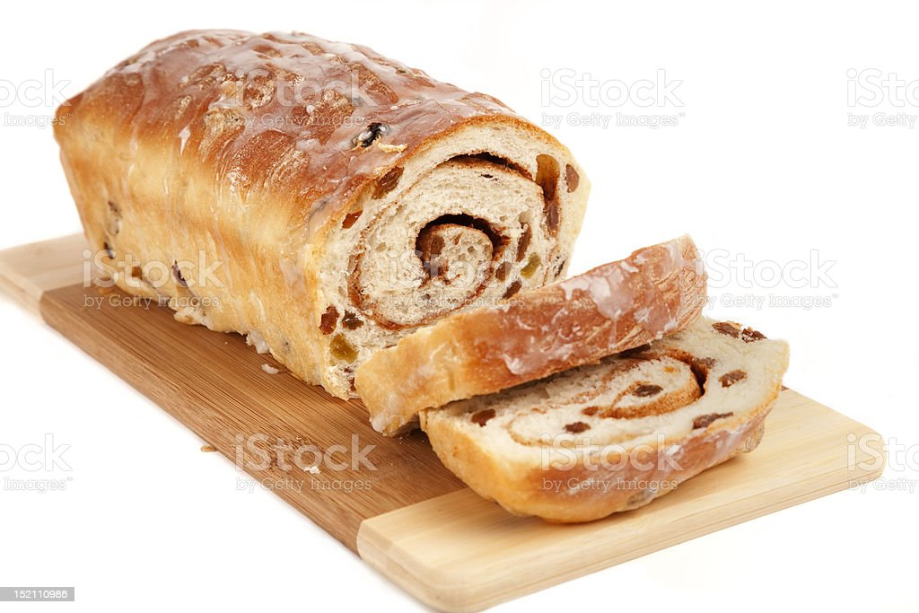Homemade Cinamon Raisin Bread royalty-free stock photo