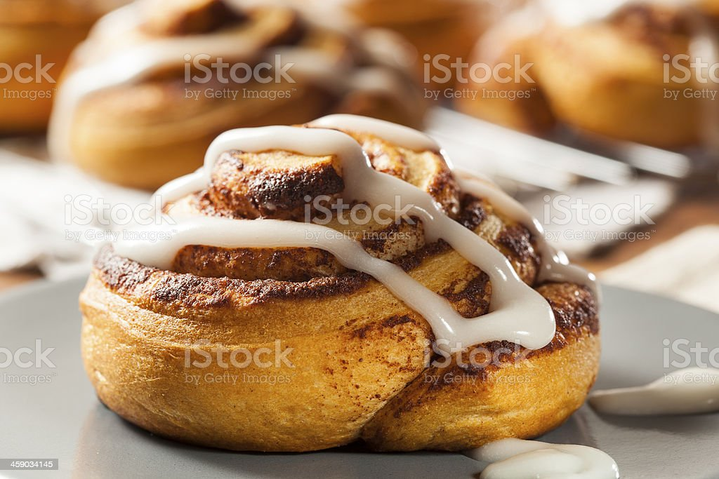 Homemade Cinnamon Roll Pastry stock photo