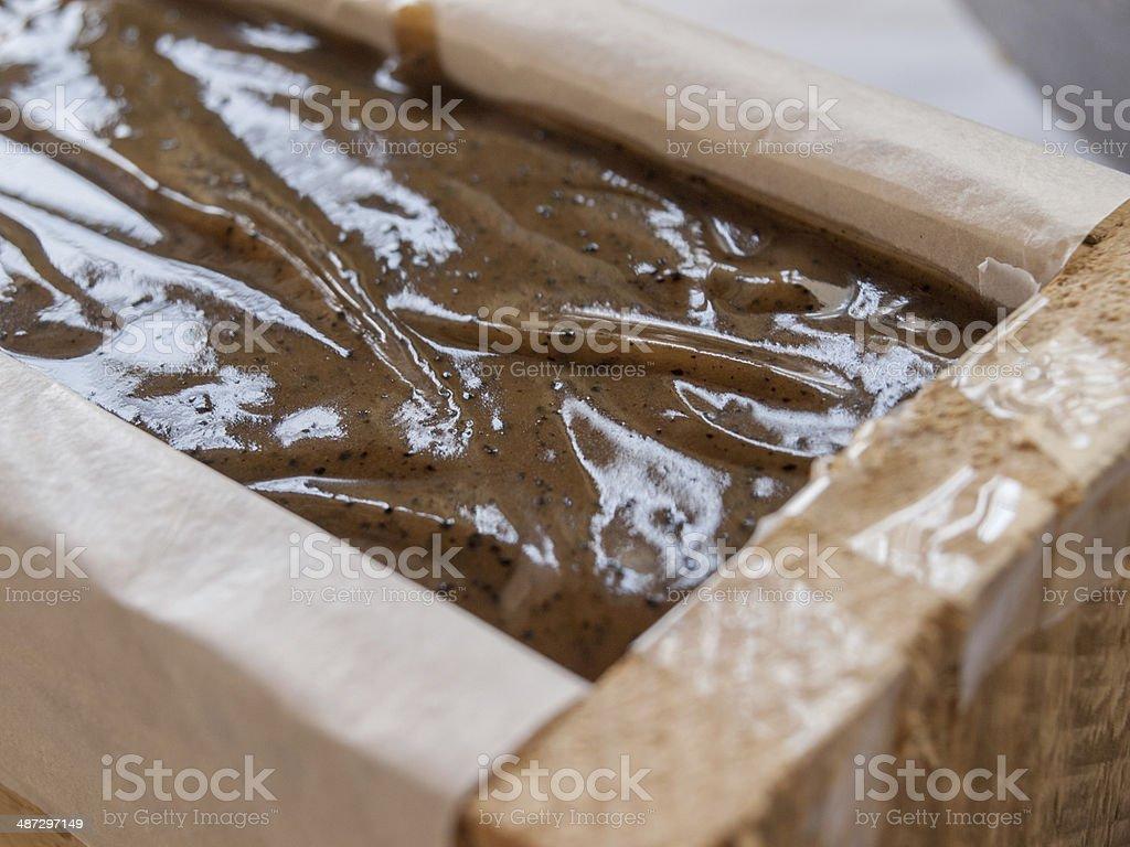 Homemade Coffee soap stock photo