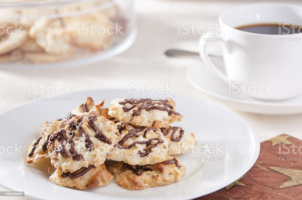 Homemade cookies and coffee royalty-free stock photo