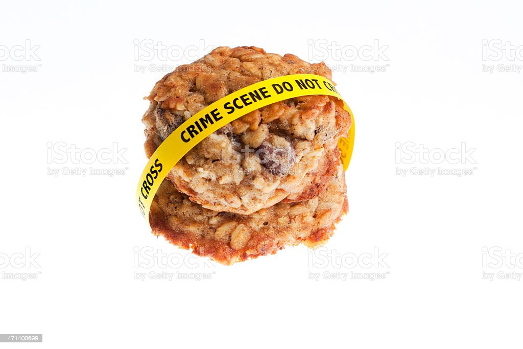 Homemade Cookies Crime Scene royalty-free stock photo
