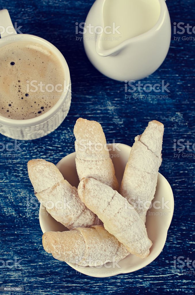 Homemade cookies twisted stock photo