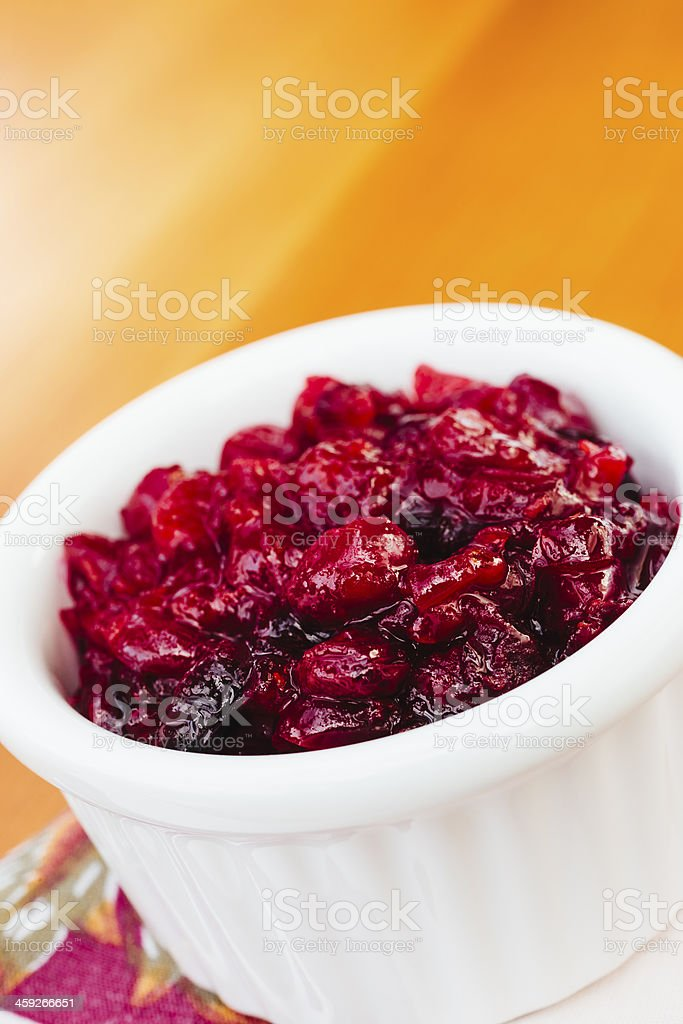 Homemade cranberry sauce royalty-free stock photo