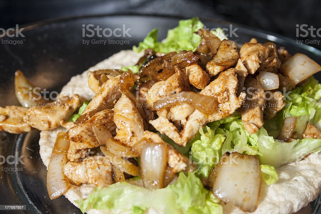 Homemade crispy tortilla taco stock photo