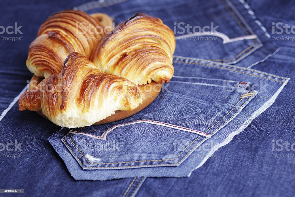 homemade croissant royalty-free stock photo