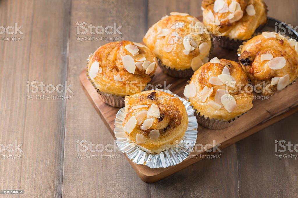 Homemade Danish almond bread stock photo