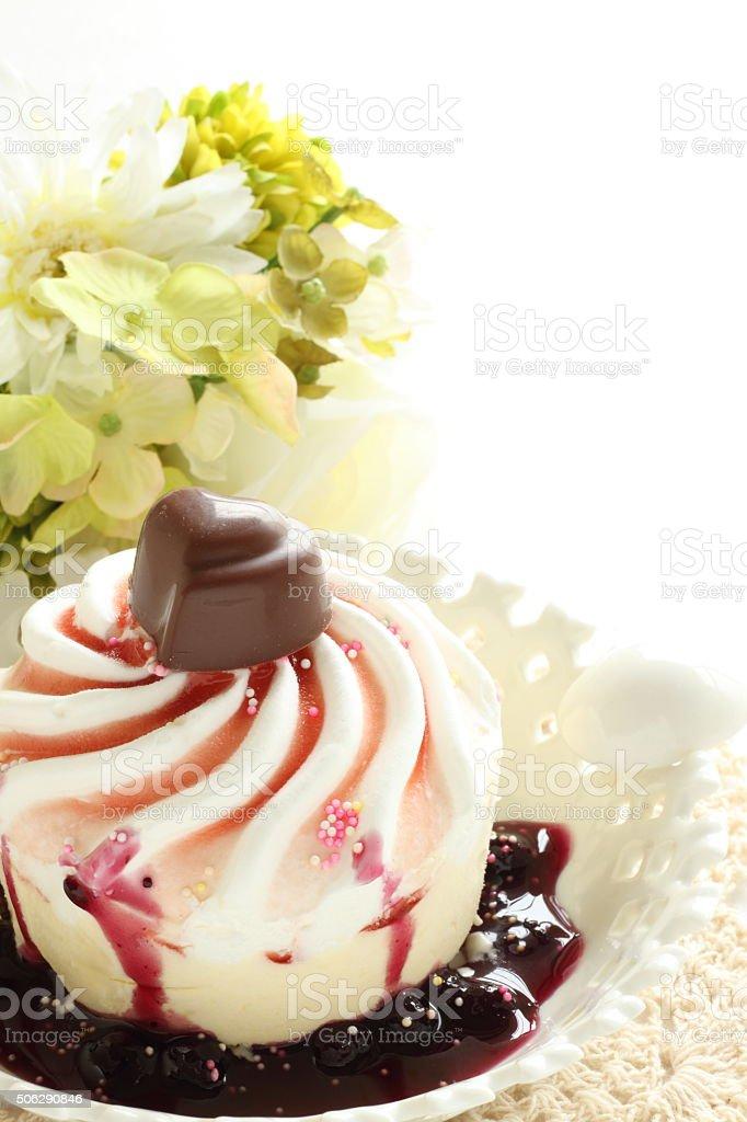 homemade decoration ice cream stock photo