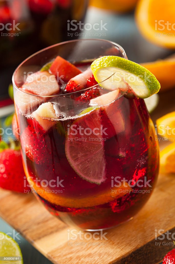 Homemade Delicious Red Sangria royalty-free stock photo
